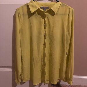 Yellow green blouse